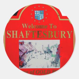 Shaftesbury Red Classic Round Sticker