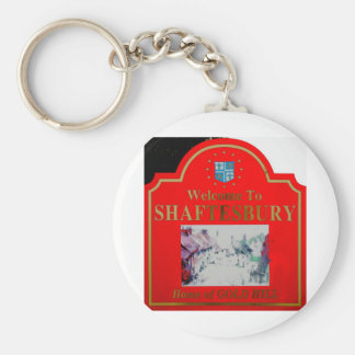 Shaftesbury Red Keychain