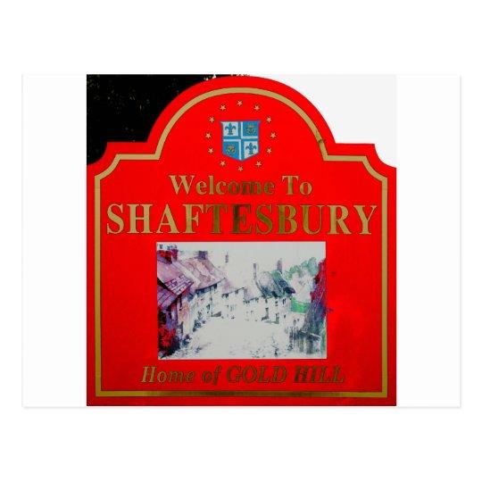 Shaftesbury Red Postcard