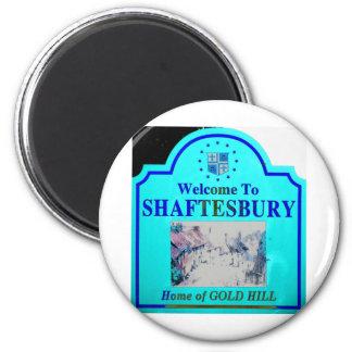 Shaftesbury Torquise Blue 2 Inch Round Magnet