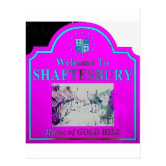 Shaftesbury Torquise rosado Postal