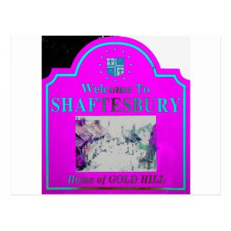 Shaftesbury Torquise rosado Tarjeta Postal
