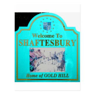 Shaftesbury Torquise Tarjeta Postal