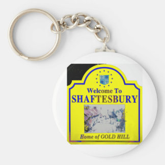 Shaftesbury Yellow Blue Keychain