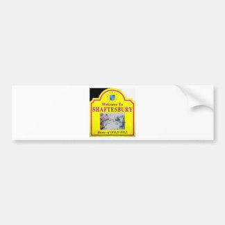 Shaftesbury Yellow Pink Bumper Sticker