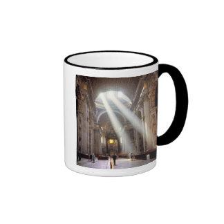 Shafts of sunlight pour through the windows ringer mug