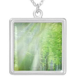 Shafts of Sunlight Square Pendant Necklace