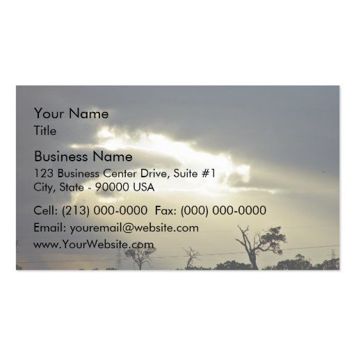 Shafts of sunlight through clouds Double-Sided standard business cards (Pack of 100)