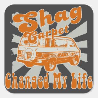 SHAG CARPET CHANGED MY LIFE TOOLBOX SQUARE STICKER