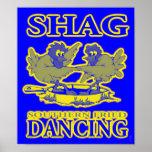 Shag Southern Fried Dancing Poster B/G