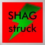 Shag struck G/R/B Poster