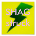 SHAG struck G/Y/P Poster