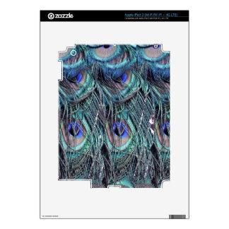 shaggy blue peafowl feathers iPad 3 skin