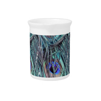 shaggy blue peafowl feathers pitchers