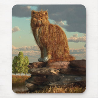 Shaggy Cat Mouse Pad