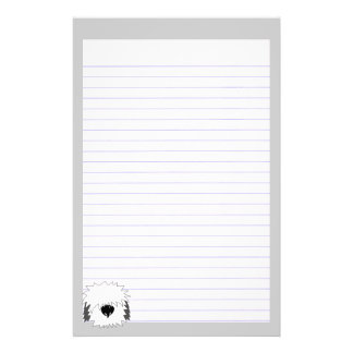 Shaggy Dog Lined Stationery