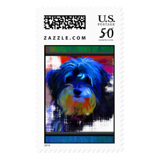 Shaggy Dog Postage Stamps