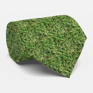 Shaggy Green Moss Nature Pattern Tie