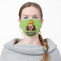 """Shaggy """"Like Groovy Man"""" Graphic Adult Cloth Face Mask"""
