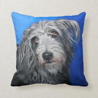 Shaggy lurcher cushion