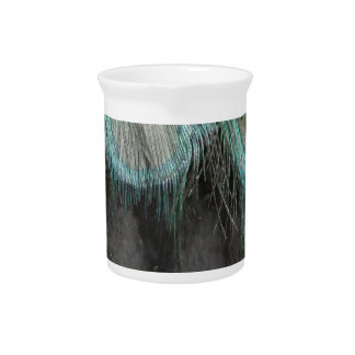 Shaggy Peafowl Feathers Drink Pitcher
