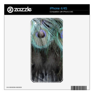 Shaggy Peafowl Feathers iPhone 4S Decals