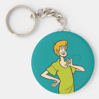 Shaggy Pose 09 Basic Round Button Keychain
