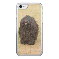 Carved Apple iPhone 7 Wood Case with Puli Phone Cases design