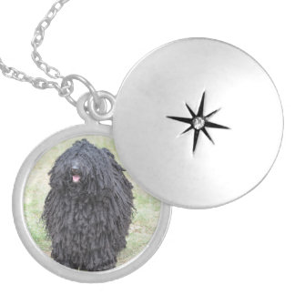 Shaggy Puli Dog Silver Plated Necklace