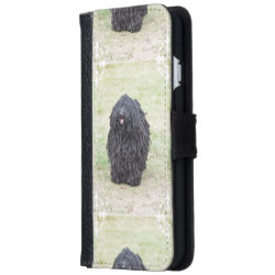 Shaggy Puli Dog Wallet Phone Case For iPhone 6/6s