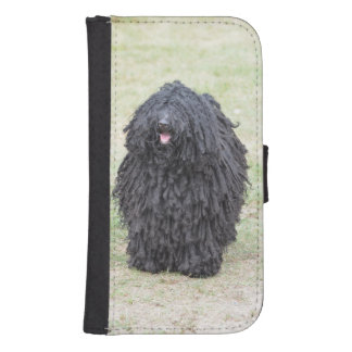 Shaggy Puli Dog Wallet Phone Case For Samsung Galaxy S4