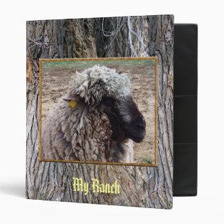 Shaggy Sheep 3 Ring Binder
