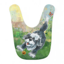 Shaggy Sheep Dog Baby Bib