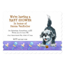 Shaggy Sheep Dog Baby Shower Invitation