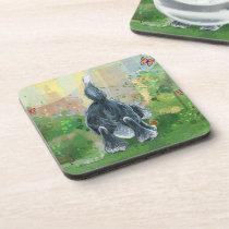 Shaggy Sheep Dog Beverage Coaster