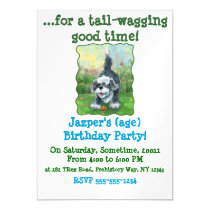 Shaggy Sheep Dog Magnetic Invitation