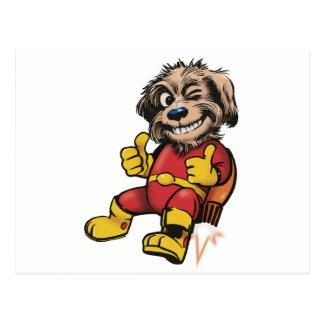 Shaggy Space Dog Postcard