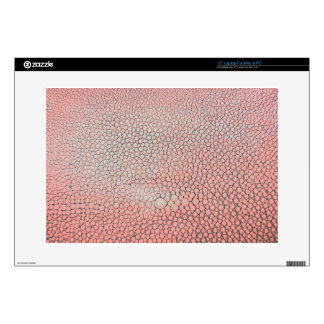 "Shagreen Salmon Pink Decals For 15"" Laptops"