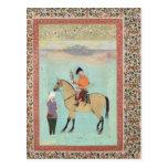 Shah Abbas en un caballo que sostiene un halcón Postales