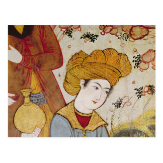 Shah Abbas I  and a Courtier offering Postcard