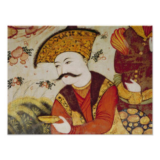 Shah Abbas I  and a Courtier offering Poster