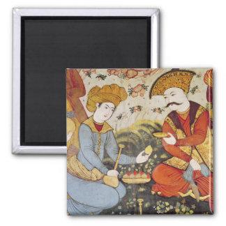 Shah Abbas I y un cortesano Imán Cuadrado