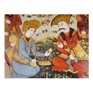 Shah Abbas I y un cortesano Postal