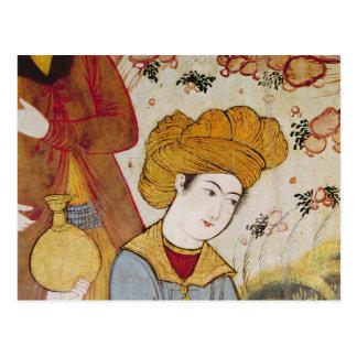 Shah Abbas I y un ofrecimiento del cortesano Tarjeta Postal