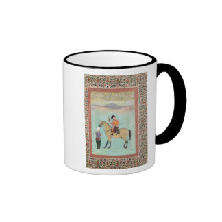 Shah Abbas  on a horse holding a falcon Coffee Mug