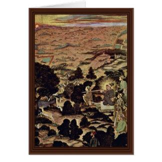 Shah Jahan On The Wild Hunt By Meister Der Shâh-Ja Greeting Cards