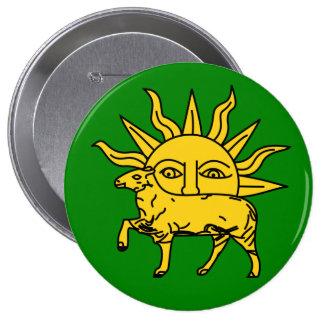 Shah Tahmasp I, Iran 4 Inch Round Button