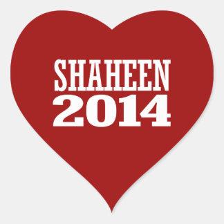 SHAHEEN 2014 HEART STICKERS