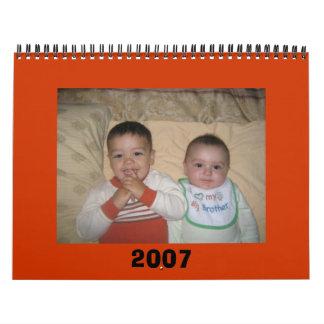 shahin 2007 calendario de pared