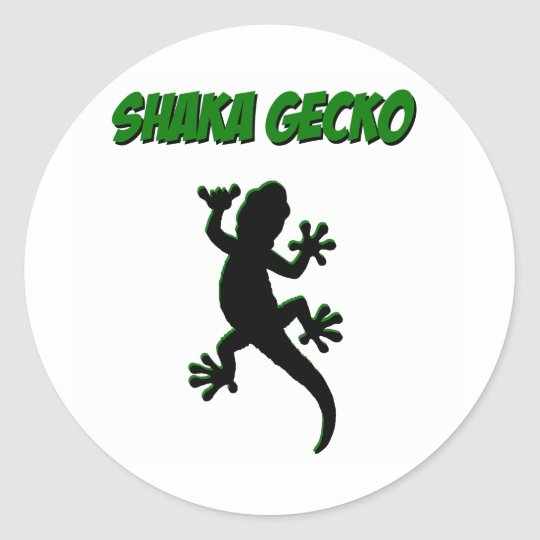 Shaka Gecko Stickers